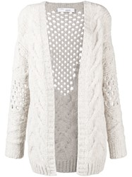 Iro Chunky Knitted Cardigan Nude And Neutrals
