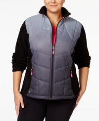 Ideology Plus Size Ombre Jacket Only At Macy's Noir Dip