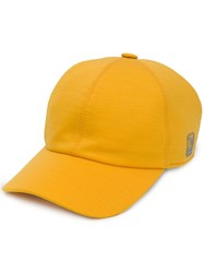 Z Zegna Embroidered Logo Cap Yellow