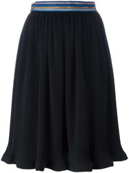 Paul Smith Ribbed A Line Skirt Black