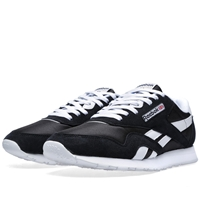 Reebok Classic Leather Nylon Og Black And White