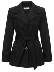 John Lewis Jessica Belted Mac Black