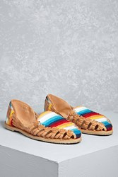 Forever 21 Sbicca Leather Huarache Sandals Multi