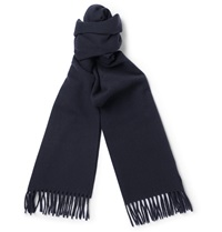 A.P.C. Wool And Cashmere Blend Scarf Blue