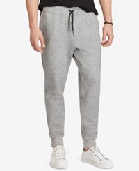 Polo Ralph Lauren Men's Big And Tall Double Knit Jogger Pants Gray