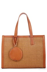 Sole Society Nikole Faux Leather Tote Brown Camel