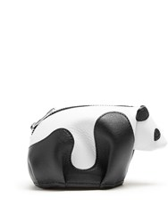 Loewe Panda Coin Purse Black White