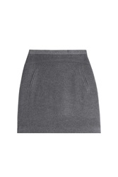Steffen Schraut Madison Avenue Wool Skirt Grey