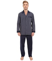 Jockey Broadcloth Pajama Set Navy Stripe Men's Pajama Sets