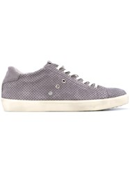 Leather Crown Perforated Low Top Sneakers Men Foam Rubber 43 Grey