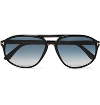 Tom Ford Jacob Aviator Style Acetate Sunglasses Black
