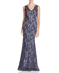 Aqua Lace Gown Steel Blue