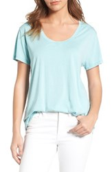 Treasure And Bond Women's Burnout Boyfriend Tee Green Canton