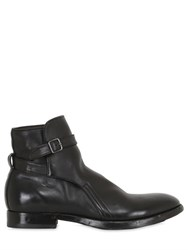 Silvano Sassetti Washed Horse Leather Belted Boots