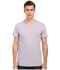 Vince Refined Slub V Neck T Shirt Lavender Mist Men's T Shirt Purple