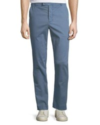 Atm Anthony Thomas Melillo Pigment Enzyme Washed Cotton Stretch Slim Straight Pants Blue