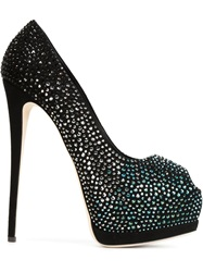 Giuseppe Zanotti Design Embellished Platform Pumps Black