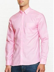Aquascutum London Ashford Long Sleeved Oxford Shirt Pink