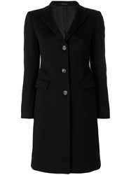 Tagliatore Classic Buttoned Coat Women Cupro Cashmere 42 Black