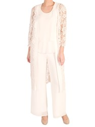 Chesca Lace Scalloped Coat Blonde
