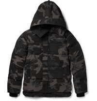 Canada Goose Gooe Macmillan Quilted Camouflage Print Hell Down Parka Black