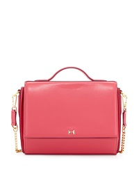 Halston Heritage Structured Leather Crossbody Bag Fuchsia