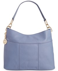 Tommy Hilfiger Th Signature Leather Small Hobo French Blue