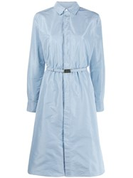 Ralph Lauren Collection Belted Shirt Dress Blue