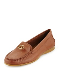 Coach Opal Leather Loafer Saddle