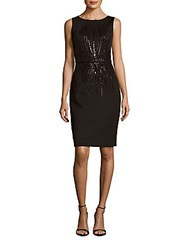 Calvin Klein Solid Sequin Embellished Sheath Dress