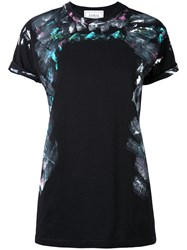 Forte Couture Printed T Shirt Women Cotton M Black