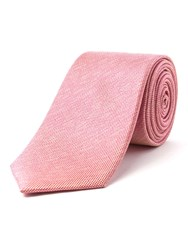 Racing Green Stellar Semi Plain Silk Tie Pink