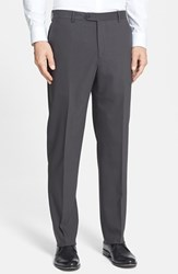 Santorelli Men's Big And Tall Flat Front Travel Trousers Olive Brown