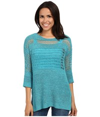 Miraclebody Jeans Drew Dropneedle Sweater W Body Shaping Inner Shell Turquoise Blue Women's Sweater