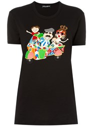 Dolce And Gabbana Dg Family Patch T Shirt Black