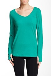 The North Face Maryl Long Sleeve V Neck Tee Green