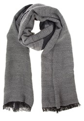 S.Oliver Scarf Grey Black Stripes Blue