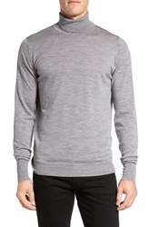 John Smedley Men's 'Richards' Easy Fit Turtleneck Wool Sweater Silver