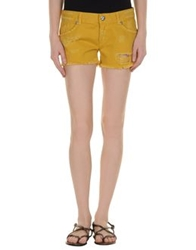 Relish Denim Shorts Khaki
