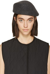 Clyde Charcoal Grey Wool Sazzy Beret
