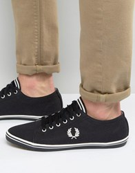 Fred Perry Kingston Twill Plimsolls Black
