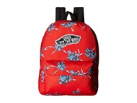 Vans Realm Backpack Tomato Hawaiian Backpack Bags Red