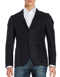 Strellson Wool Blend Two Button Blazer Navy