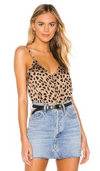 Sanctuary Essential Button Front Tank In Brown. Modern Spots