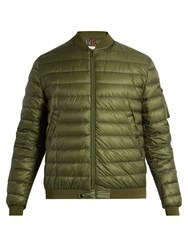 Moncler Aidan Quilted Down Jacket Khaki