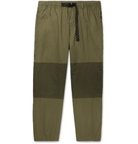 Nike Acg Nrg Trail Tapered Panelled Ripstop Trousers Green