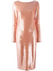 Tom Ford Longsleeve Sequin Dress Pink Purple