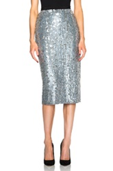 Burberry London Mid Calf Sequin Skirt In Metallics