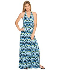 Soybu Boardwalk Maxi Amp Wave Women's Dress Blue