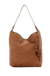 Steve Madden Faux Leather Hobo Brown